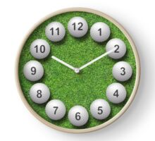 Golf Balls Timepiece Clock
