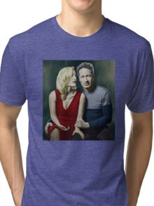 Gillian Anderson and David Duchovny Tri-blend T-Shirt