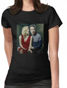 Gillian Anderson and David Duchovny Womens Fitted T-Shirt