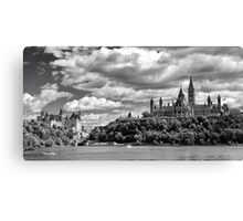 Parliament Hill Across The River Canvas Print