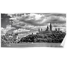 Parliament Hill Across The River Poster
