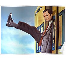 Mister Bean Painting Poster