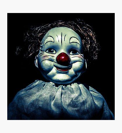 evil, strange clown Photographic Print