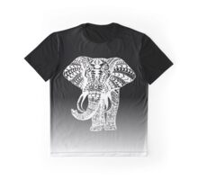 White Eleplant Graphic T-Shirt