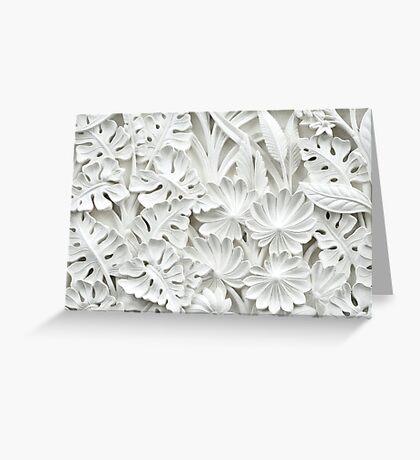 sculpture flowers Greeting Card