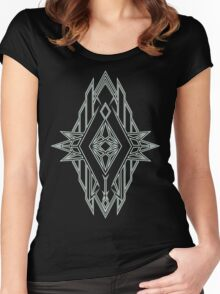 Abstract Triangle Art Pattern Women's Fitted Scoop T-Shirt