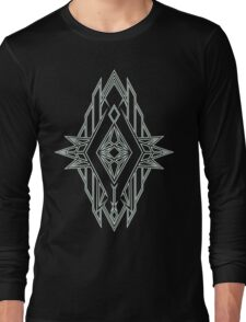 Abstract Triangle Art Pattern Long Sleeve T-Shirt