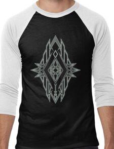 Abstract Triangle Art Pattern Men's Baseball ¾ T-Shirt