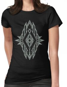 Abstract Triangle Art Pattern Womens Fitted T-Shirt