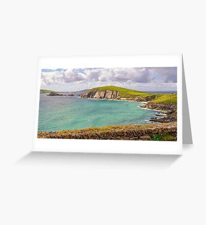Dunmore Head Panorama - County Kerry - Ireland Greeting Card