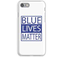 Blue Lives Matter Movement Police, Cops Respect iPhone Case/Skin