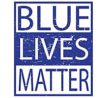 Blue Lives Matter Movement Police, Cops Respect Photographic Print