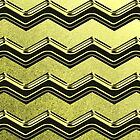 Yellow Chevron Zig Zag Pattern by thepixelgarden