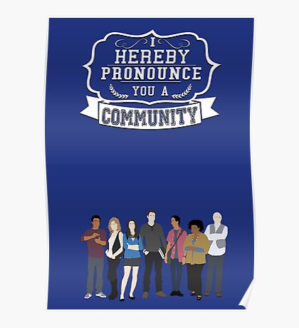 I hereby pronounce you a Community Poster