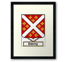 Denny Coat of Arms (English) Framed Print