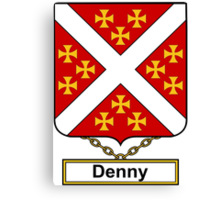 Denny Coat of Arms (English) Canvas Print
