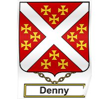 Denny Coat of Arms (English) Poster