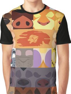 Lion Guard and Outlanders Minimalist Icons Graphic T-Shirt