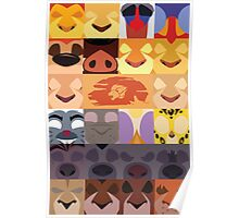 Lion Guard and Outlanders Minimalist Icons Poster