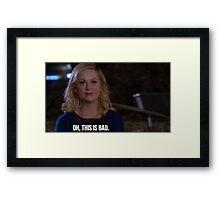 Leslie Knope--Oh this is bad Framed Print