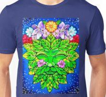 Floral Happy Green Man Unisex T-Shirt