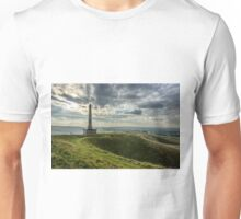 The Lansdowne Monument overlooking a sort of 'Neolithic Ampitheatre' in Wiltshire Unisex T-Shirt