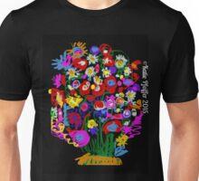 Mod Pop Art Flower Bouquet Unisex T-Shirt