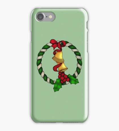 Bells and Holly Wreath iPhone Case/Skin
