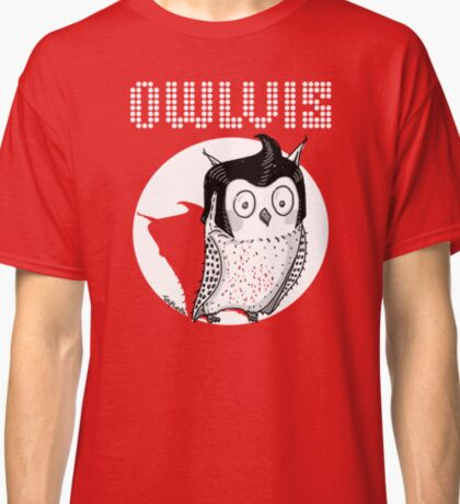 Owlvis - Owl illustration  Classic T-Shirt