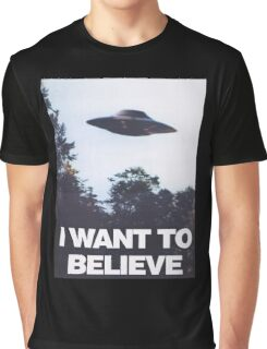 The X-Files I Want To Believe Graphic T-Shirt
