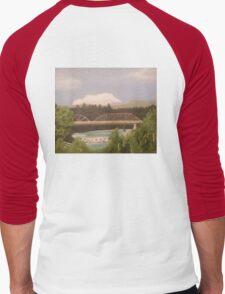 Russian River Bridge, Healdsburg Men's Baseball ¾ T-Shirt