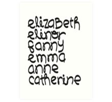 Leading Ladies Art Print