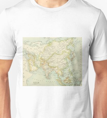 Old map of Asia Unisex T-Shirt