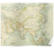 Old map of Asia Poster