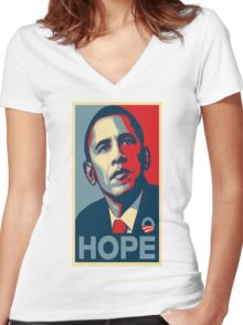 Obama Hope Women's Fitted V-Neck T-Shirt