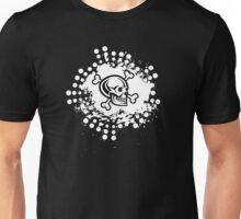 Black Skull Cross And Bones on White Background Unisex T-Shirt