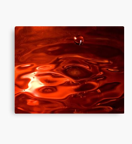 Psychedelic Water Drop Play (3) Canvas Print