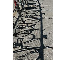 Track bikes at Edwardstown Photographic Print