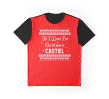 All I want For Christmas is Castiel Graphic T-Shirt