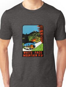 Whiteface Mountain Vintage Travel Decal Unisex T-Shirt