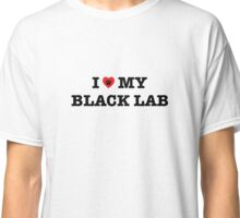 I Heart My Black Lab Classic T-Shirt