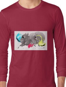 CMYK Ink Brush Fox Long Sleeve T-Shirt