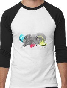 CMYK Ink Brush Fox Men's Baseball ¾ T-Shirt