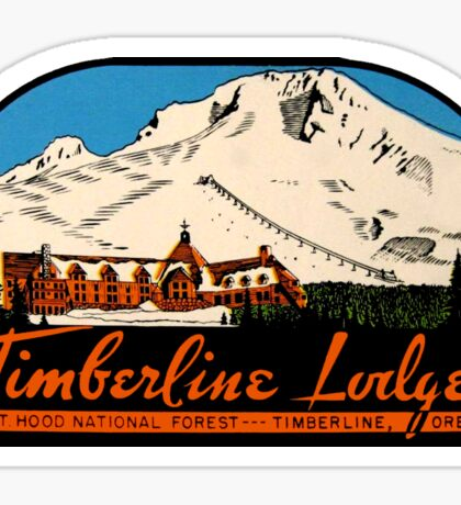 Timberline Lodge Vintage Travel Decal Sticker
