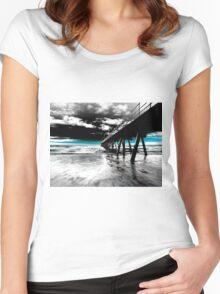 Glenelg Jetty  Women's Fitted Scoop T-Shirt
