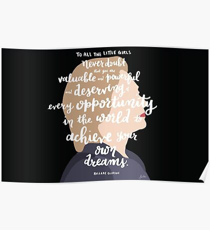 Hillary to Young Girls Poster