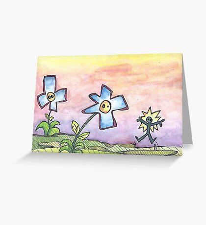sentient flower Greeting Card