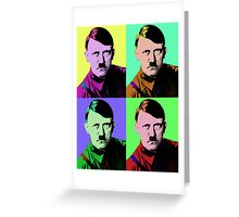 Hitler Warhol Greeting Card
