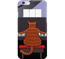 Cat at the Piano iPhone Case/Skin