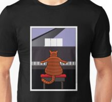 Cat at the Piano Unisex T-Shirt